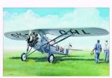 Model Morane Saulnier MS 230 9,4x14,6cm v krabici 25x14,5x4,5cm Směr