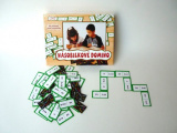 Násobilkové domino společenská hra 60ks v krabici 22x16x3cm Voltik toys