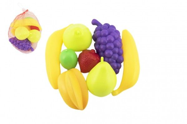 Ovoce 7 ks plast 5-13cm v síťce Teddies