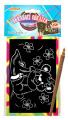 Škrábací obrázek duhový 15x10cm na kartě 24ks v boxu SMT Creatoys