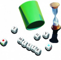 Mistr Slova společenská hra na cesty s kostkami v krabičce 13x12,5x6cm PEXI
