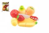 Ovoce krájecí plast s prkénkem 13,5x8cm s nožem v sáčku 18x26x5cm