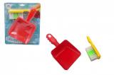 Uklízecí sada/uklízečka plast smetáček + lopatka na kartě 21x26x5cm