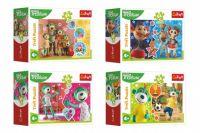Minipuzzle 54 dílků Veselý svět Trefliků/Treflíci 4 druhy v krabičce 9x6,5x4cm 40ks v boxu