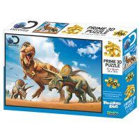Puzzle 3D Trex versus Triceratops 500 dílků