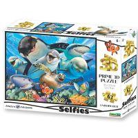 Puzzle 3D selfie pod vodou 100 dílků