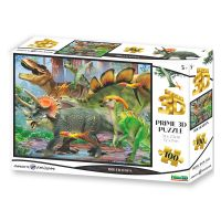 Puzzle 3D Triceratops 100 dílků