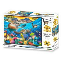 Puzzle 3D Želva 48 dílků