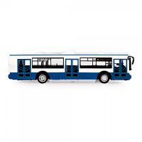 Autobus česky mluvící plast 28cm modrý volný chod na bat. se světem se zvukem v krab. 33x11x10cm Rappa