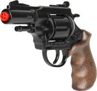 Policejní revolver Gold colection černý kovový 12 ran