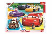 Puzzle deskové Auta 3/Cars 3/Dobrý tým 37x29cm 25 dílků ve fólii 16ks v boxu