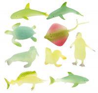 Zvířátka mořská svítící plast 6cm asst mix druhů v boxu Teddies