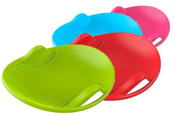 Sněžný talíř plast průměr 60cm mix barev Teddies