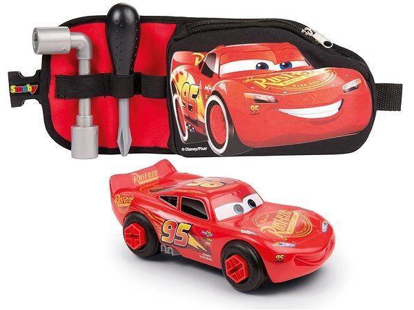 Pás s nářadím a auto Cars Blesk McQueen Hermanex