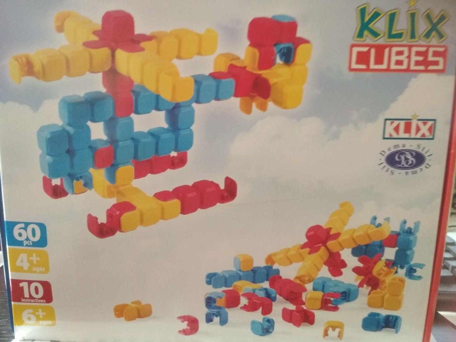 Stavebnice Klix Cubes 60 dílů plast Teddies