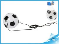 Fotbalový trenažér míč 19cm na pružném laně v síťce