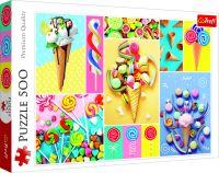 Puzzle Oblíbené sladkosti 500 dílků
