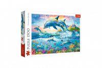Puzzle Rodina delfínů 1500 dílků 85x58 cm v krabici 40x27x6cm