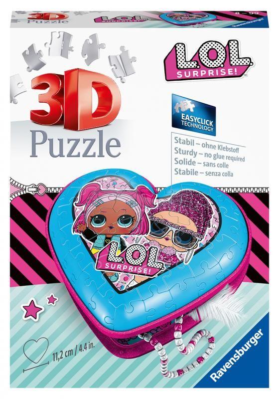 3D Puzzle Srdce L.O.L. 54 dílků Ravensburger