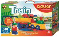 Stavebnice BAUER Train Vláčky 340 dílů