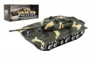 Tank plast 27cm na setrvačník na baterie se světlem se zvukem 2 barvy v krabici 29x13x12cm