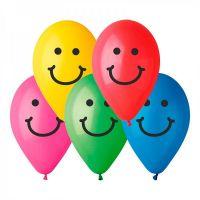 """Balonek nafukovací s potiskem Smile střední 9"""" 10ks v sáčku karneval Smart Balloons"""