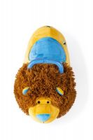 Odrážedlo FUNNY WHEELS Rider Ride-On lvíček 50cm plyšový modrý v krabici 49x30x23cm 12m+ Teddies