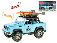 Auto terénní 21cm surfing na setrvačník na baterie se světlem a zvukem v krabičce