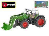 Bburago Fendt 1000 Vario traktor nakladač 16,5cm na setrvačník v krabičce