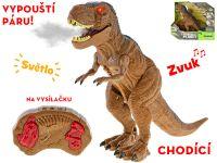 IR/C dinosaurus 36cm na baterie se světlem a zvukem v krabičce