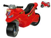 Motorka odrážedlo červené 68x48x29cm max. 30kg v sáčku