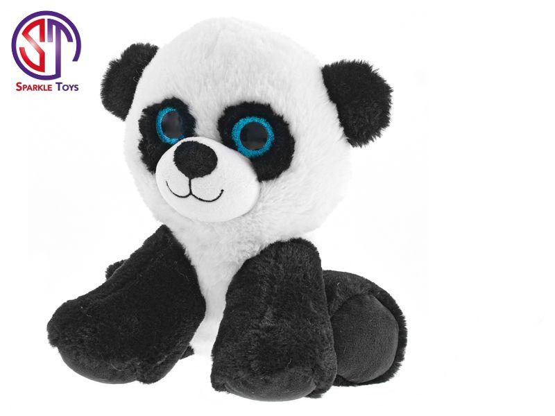 Panda Star Sparkle plyšová 25cm sedící 0m+ v sáčku Mikro Trading