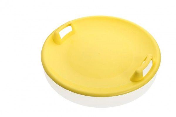 Sněžný talíř Superstar plast průměr 60cm žlutý