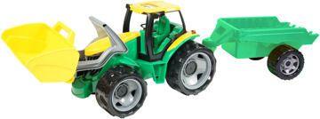 Traktor se lžící a přívěsem Lena