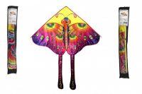 Drak létající nylon 145x80cm motýl v sáčku 10x78cm