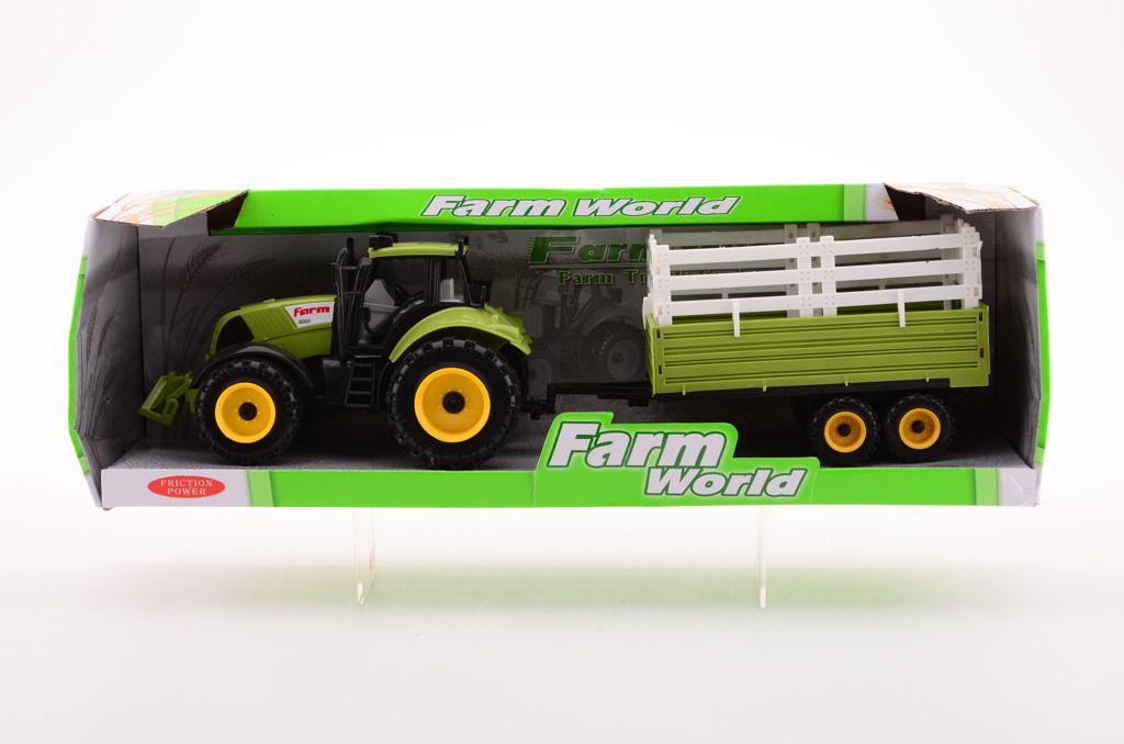 Traktor + přívěs 4 druhy velký Johntoy