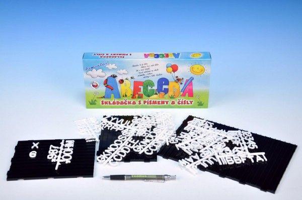 Abeceda Skládačka s písmenky a čísly plast v krabici 31x13x4cm Chemoplast