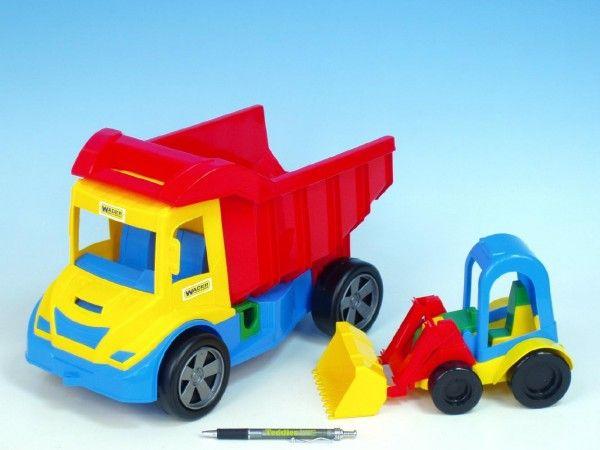 Auto multitruck s nakladačem plast 37cm asst 2 barvy v síťce od 12 měsíců Wader