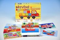 Kostky kubus Kubíkovy kostičky Dopravní prostředky dřevo 6ks v krabičce od 24 měsíců
