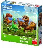 Puzzle Maxi Hodný Dinosaurus v horách 24dílků 66x47cm v krabici