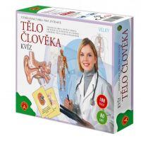 Tělo člověka kvíz společenská vzdělávací hra 30x25cm v krabici PEXI