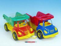 Auto sklápěč plast 50cm 3 barvy v síťce Teddies