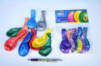 Balonek nafukovací 10cm 10ks v sáčku karneval