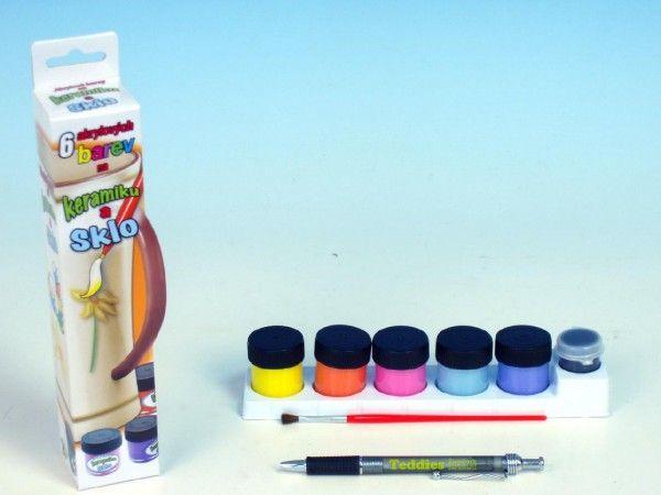 Barvy na keramiku a sklo 6ks v krabičce SMT Creatoys