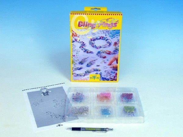 Bling Rings výroba šperků korálky v krabici Lowlands