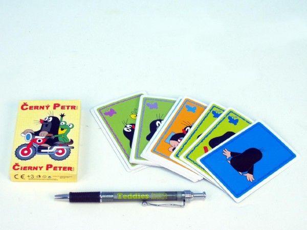 Černý Petr Krtek společenská hra, karty v krabičce Akim