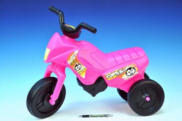 Odrážedlo Enduro Yupee růžové malé plast výška sedadla 26cm nosnost do 25kg od 12 měsíců Teddies