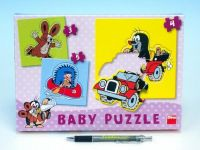 Puzzle baby Krtek 18x18cm 12 dílků v krabici 27x19x3,5cm