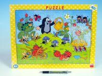 Puzzle deskové Krtek v jahodách 37x29cm 40 dílků Dino