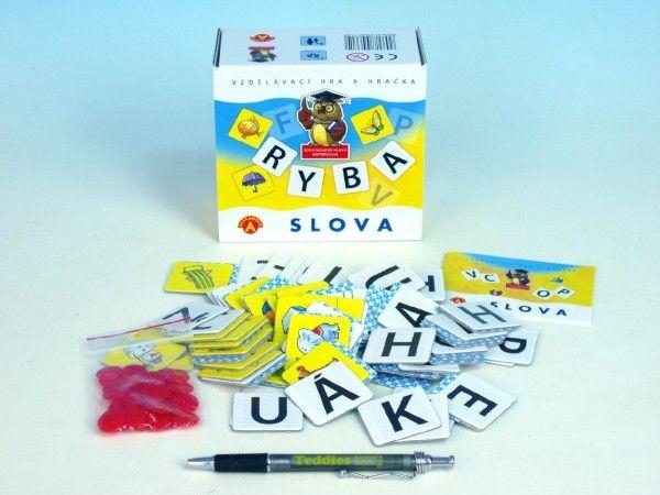 Slova didaktická společenská hra v krabičce 13,5x12,5x6cm PEXI